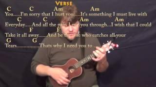 The Reason (Hoobastank) Ukulele Cover Lesson in C with Chords/Lyrics