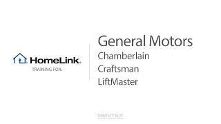 General Motors - HomeLink Training for Chamberlain, Craftsman and LiftMaster Garage Doors video poster