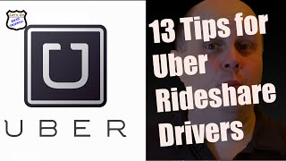 13 Tips for Uber and Rideshare Drivers