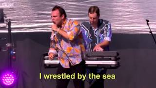 """Future Islands - """"A Dream Of You And Me"""" - LYRICS on screen"""