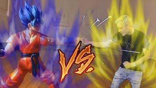 Dragon ball stop motion Goku vs Pewdiepie |Pewdiepie green screen competition [DBZ STOP MOTION]