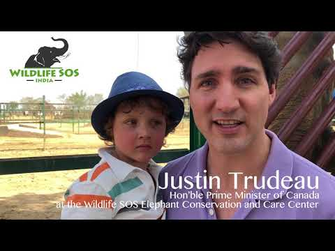 Hon'ble Prime Minister of Canada Justin Trudeau visits the WSOS Elephant Conservation and Care Centre