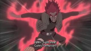Might Guy Opens 8th Gate of Death!!!