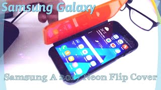 Official | Samsung Galaxy A3 A5 A7 2017 Neon Flip Cover In Action