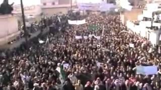 Siria - Deir B'albe(Homs) - 02/12/2011 - Grande manifestazione contro il regime di Assad