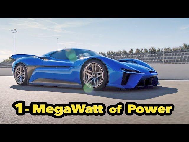 1,360-HP NIO EP9 - The World's Fastest Electric Car (1-MegaWatt of Power)