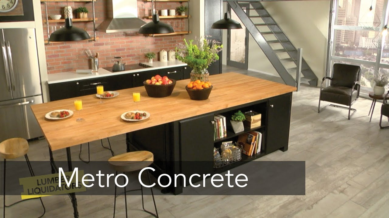 "Youtube video placeholder for 48"" x 8"" Metro Concrete Oak Porcelain Tile"