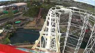 Rainbows end CorkScrew roller coaster