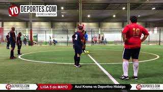 Azul Krema vs. Deportivo Hidalgo Liga 5 de Mayo