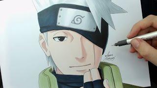 Speed Drawing - Kakashi's Face (Naruto)