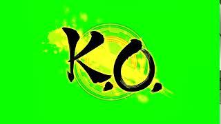 [Green Screen] Dragon Ball FighterZ KO Green Screen