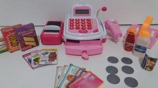 Caixa registradora com cartão de crédito e dinheiro!!! Abrindo brinquedos com a Ísis Portilho