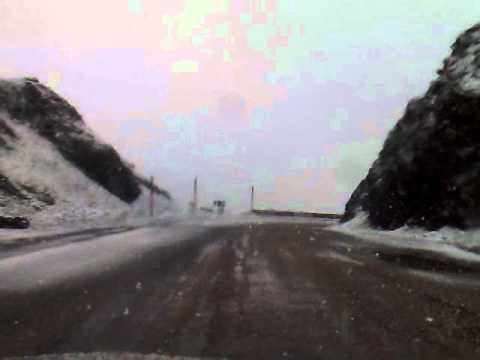 Snow road crossing Tichka Atlas Mountains from Ouarzazate to Marrakech Morocco – Part 2
