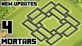 Clash of Clans Town Hall 9 Defense (CoC TH9) BEST Trophy Base Layout With 4 Mortars