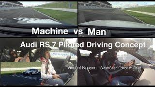 Audi RS 7 Self-Driving Concept vs Vincent @ SlashGear!
