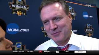 Kansas Coach Bill Self disappointed in season's end