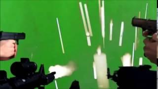 Guns Shooting Green Screen MLG effect