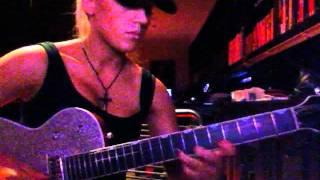 Laura Wilde playing Pseudo Echo 'Funky Town' guitar solo
