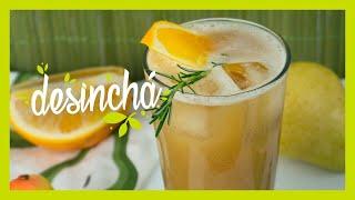 Drink refrescante de Pêra com Laranja | #desincha #desinchef