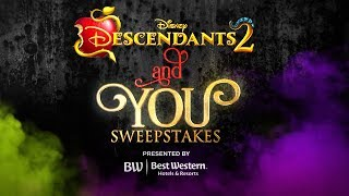 Descendants 2 and You Sweepstakes | Character Makeover with Sofia & Cameron!  | Descendants 2