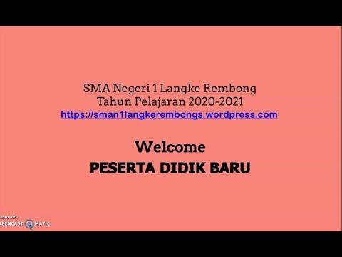 SMAN1 Langke Rembong Welcome Peserta Didik Baru TA