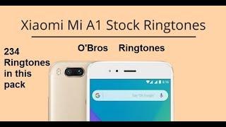 Xiaomi Mi A1 Stock Ringtones, Notification Tones, Alarm Tones, and UI Sounds.