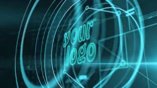 Video Intro or Outro, 3d logo holography