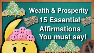 Affirmations for Wealth Prosperity!