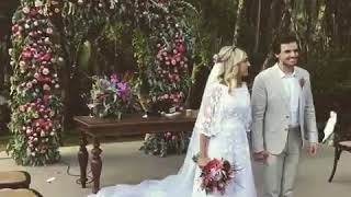 Priscilla Alcântara - Chuva de Arroz (Luan Santana) Casamento Luiza e Victor