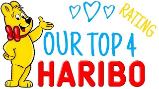 Top 4 Haribo flavours Ranking - The best German sweets review and Candy Contest