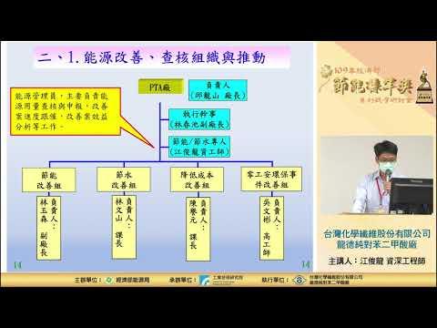 【2020節能觀摩會】台灣化學纖維股份有限公司龍德純對苯二甲酸廠 江俊龍 工程師