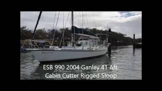 2004 Ganley Steel Aft Cabin Cutter Rigged Sloop ESB 998