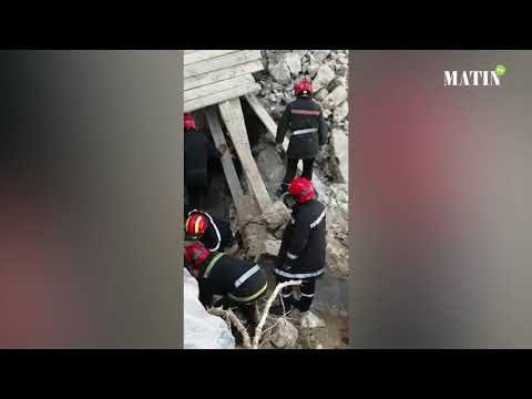 Video : Casablanca : Un effondrement au quartier La Gironde fait deux morts