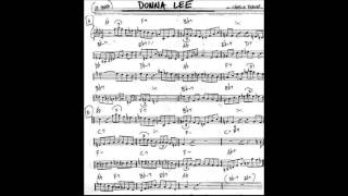Donna Lee Play along - Backing track (C key score guitar/piano/flute)