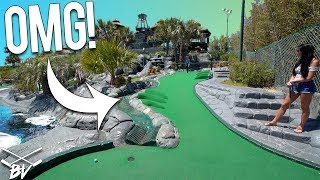 YOU HAVE TO SEE THIS AMAZING MINI GOLF COURSE! - CRAZY HOLE IN ONES AND AMAZING HOLES! | Brooks Holt
