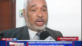 Legisladores difieren sobre procedimiento legislativo debe seguir el proyecto de ley Código Penal