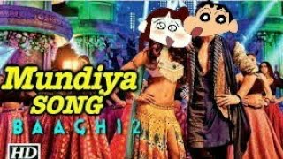 Baaghi 2: Mundiya Song |Official Shinchan Video| Shinchan Cartoon Mix