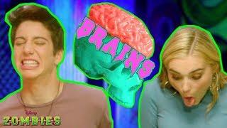 Zombie Brain Food Challenge 😋   ZOMBIES   Disney Channel