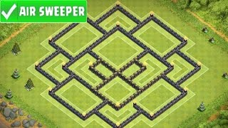 Clash Of Clans   EPIC TOWN HALL 9 FARMING BASE   TH9 BASE w/ Air Sweeper