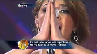 """Yuridia canta  """"Ya Te Olvide"""" en el concierto # 17  (11-12-2011 )"""