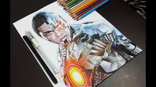 Drawing Cyborg / Dibujando a Cyborg (Justice Ligue 2017 )