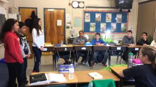 Students teaching students Portuguese as a way to share their language and culture.