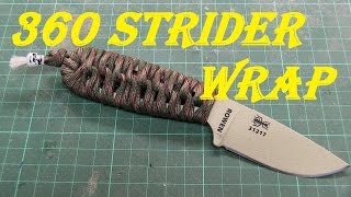 HOW TO - PARACORD WRAP A KNIFE - 360 Strider wrap on ESEE Izula 2