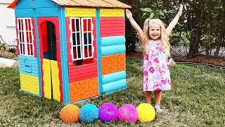 Diana plays with color balls and Finger Family song / Video for children with Kids Diana Show