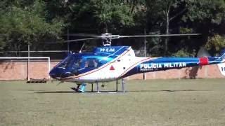 Helicoptero  decolando em Aiuruoca MG.