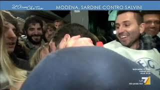 Modena, le Sardine tornano in piazza contro Matteo Salvini