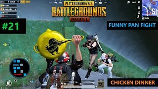 [Hindi] PUBG MOBILE | FUNNY PAN RUSH FIGHT WITH FAN IN THE END ZONE CHICKEN DINNER
