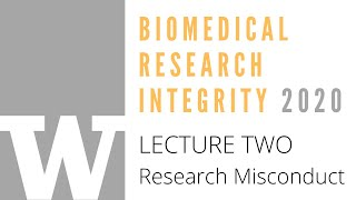 BRI 2020 Lecture Two, Research Misconduct with Dr. Barry Stoddard