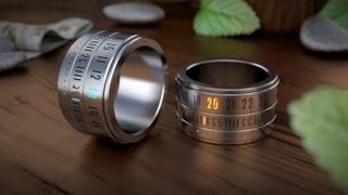 Ring Clock.  An awesome Gadget