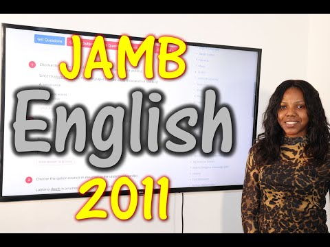 JAMB CBT English 2011 Past Questions 1 - 20